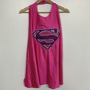 Super Girl Girl Cape Costume Pink